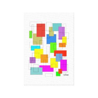 caixas da cor impressão em tela