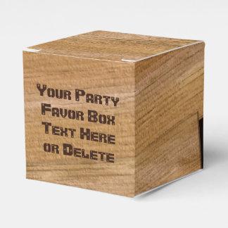 Caixas de madeira personalizadas do favor do