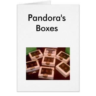 Caixas de Pandora Cartão De Nota