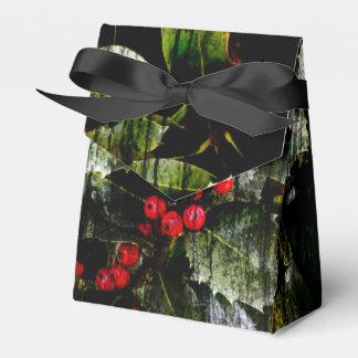 Caixas de presente da baga do azevinho lembrancinhas para casamento