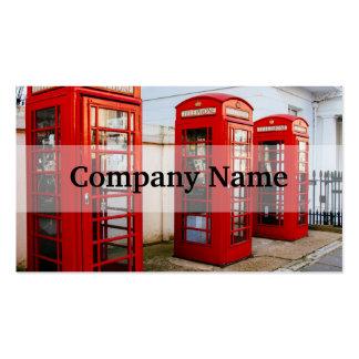 Caixas de telefone vermelhas de Londres, Cartão De Visita