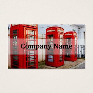 Caixas de telefone vermelhas de Londres, Cartão De Visitas