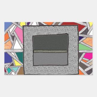 Caixas do cinza do vitral adesivos em forma retangular