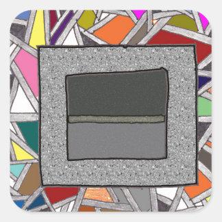 Caixas do cinza do vitral adesivo quadrado
