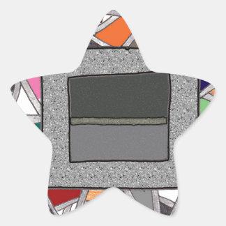 Caixas do cinza do vitral adesivos em forma de estrelas