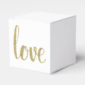 Caixas do favor do amor do ouro, brilho