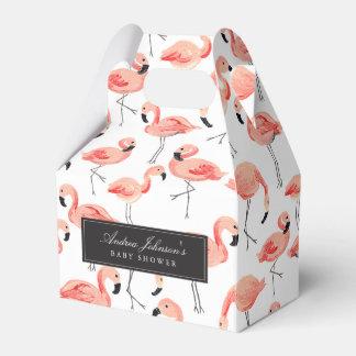 Caixas do favor do chá de fraldas do flamingo lembrancinhas para casamento