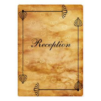 Caixas dos noivos, trabalho do rolo em corações cartão de visita grande