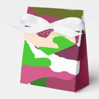 Caixas festivas do favor da camuflagem do Natal