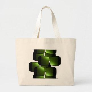 Caixas metálicas do verde 3D Bolsa Para Compra