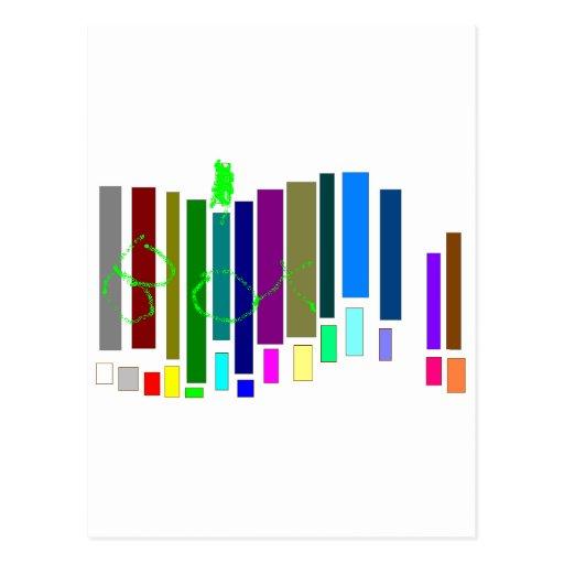 Caixas musicais cartao postal
