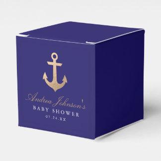 Caixas náuticas do favor do chá de fraldas do