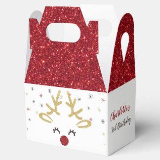 Caixas personalizadas do favor do Natal