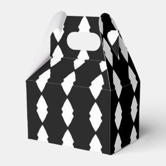 Caixas preto e branco do favor de partido dos caixinha de lembrancinhas para festas