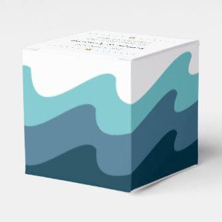 Caixas temáticos do favor da praia - onda azul