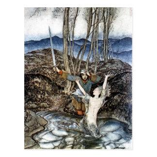 Caixeiro Colvill e o cartão da sereia