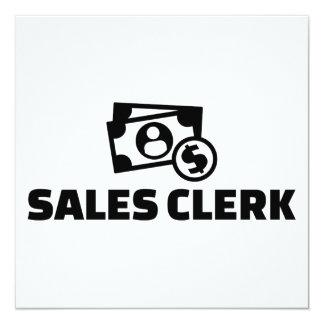 Caixeiro das vendas convite quadrado 13.35 x 13.35cm