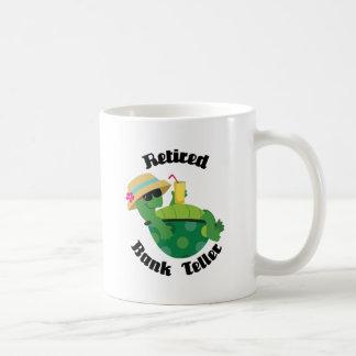 Caixeiro de banco aposentado (tartaruga) caneca de café