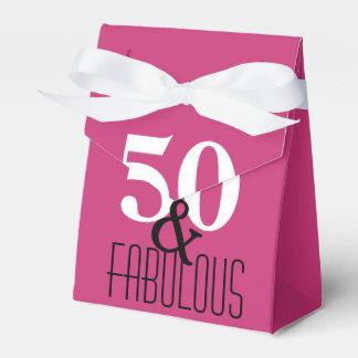 Caixinha 50 e tipo corajoso fabuloso festa de aniversário