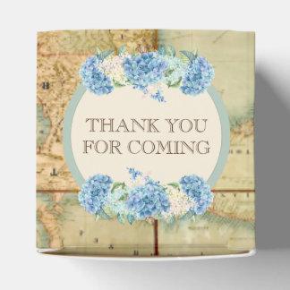Caixinha A aventura espera Hydrangeas do azul do mapa do
