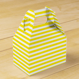 Caixinha Amarelo e branco listra a festa de casamento