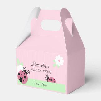 Caixinha Aniversário cor-de-rosa personalizado do chá de