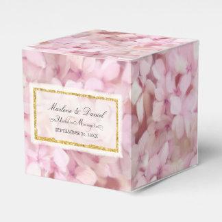 Caixinha Arte floral Wedding do Hydrangea cor-de-rosa