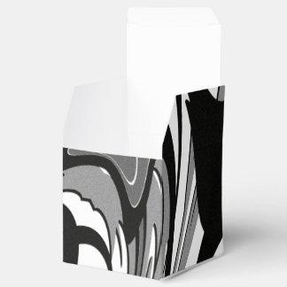 Caixinha Arte preto e branco da forma