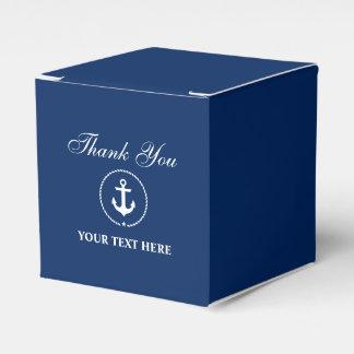 Caixinha Azuis marinhos náuticos da âncora seu obrigado do