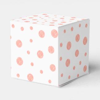 Caixinha Bolinhas elegantes - branco cor-de-rosa macio do
