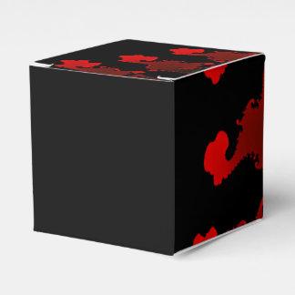 Caixinha Branco preto vermelho do Fractal