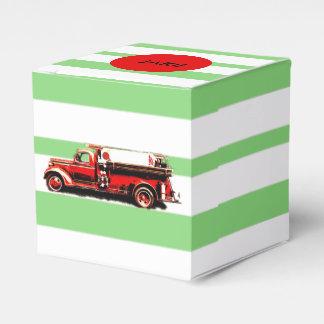 Caixinha Carro de bombeiros vermelho do vintage