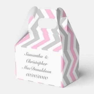 Caixinha Casamento cinzento e branco cor-de-rosa da viga