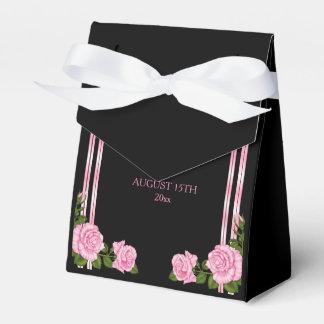Caixinha Casamento cor-de-rosa do buquê do canto chique