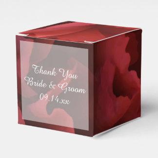 Caixinha Casamento floral vermelho