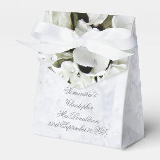 Caixinha Casamento romântico do buquê da flor branca