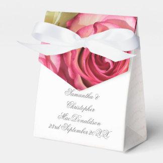 Caixinha Casamento romântico floral da flor do rosa do rosa