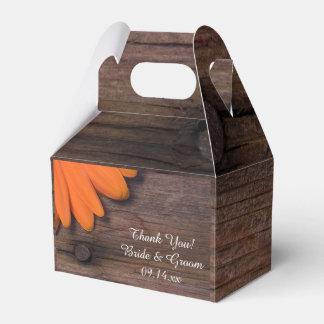 Caixinha Casamento rústico de madeira da margarida