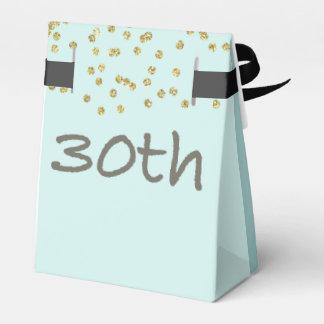 Caixinha Confetes do aniversário de 30 anos