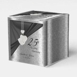 Caixinha De Lembrancinhas 25o Aniversário de casamento de prata