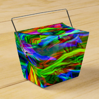 Caixinha De Lembrancinhas Abstrato de incandescência do arco-íris