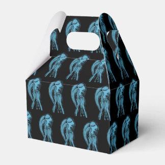 Caixinha De Lembrancinhas Anjo lateral invertido no preto e na luz - azul