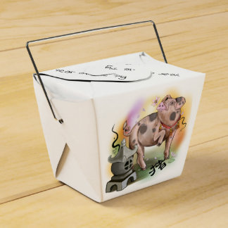 Caixinha De Lembrancinhas Ano chinês do zodíaco do porco
