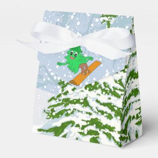 Caixinha De Lembrancinhas árvore de Natal da snowboarding