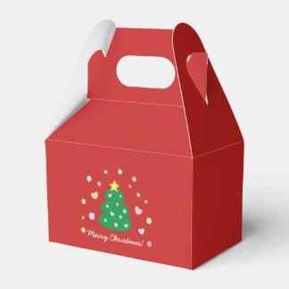 Caixinha De Lembrancinhas Árvore festiva bonito colorida do Feliz Natal
