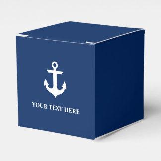 Caixinha De Lembrancinhas Azuis marinhos náuticos da âncora personalizados