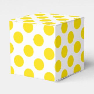 Caixinha De Lembrancinhas Bolinhas amarelas