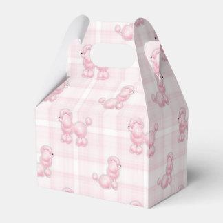 Caixinha De Lembrancinhas Caniches cor-de-rosa bonitos & verificações