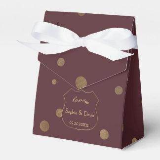 Caixinha De Lembrancinhas Casamento chique de Borgonha do amor dos confetes