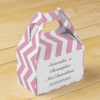 Caixinha De Lembrancinhas Casamento cor-de-rosa da viga da listra